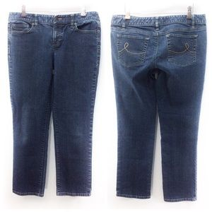 Ann Taylor LOFT Slim Cropped Med Stretch Jeans 8